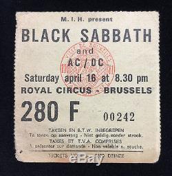 1977 Bon Scott Signed AC/DC High Voltage + Black Sabbath albums +