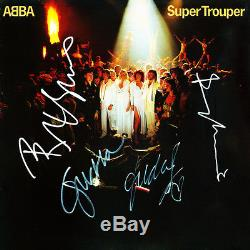 Abba Signed Album Abba Autographed Super Trouper Album 100% Auth Coa Included