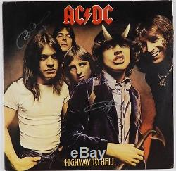 AC/DC Angus Young Cliff Signed High Way To Hell Autograph Album Record JSA