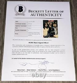 AC/DC SIGNED HIGHWAY TO HELL VINYL RECORD ALBUM ANGUS YOUNG +2 withBECKETT BAS LOA