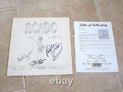 AC/DC x4 Flick Of The Switch Signed Autographed LP Album Record PSA Certified 2