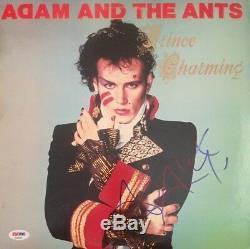 ADAM ANT Autographed Signed PRINCE CHARMING Vinyl Record Album PSA DNA COA