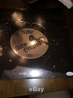 ALICE COOPER Autographed Signed LIVE ASTROTURF Vinyl Record LP Album JSA COA