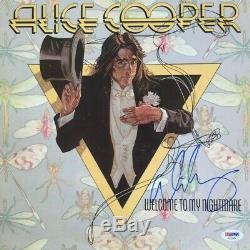 ALICE COOPER Autographed Signed NIGHTMARE Vinyl Record LP Album PSA DNA