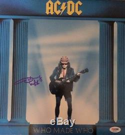 ANGUS YOUNG Autographed Signed AC/DC WHO MADE WHO Vinyl Record Album PSA DNA