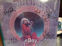 Autographs Incl Jerry Garcia Grateful Dead Full Band Coa On Album Cover Framed