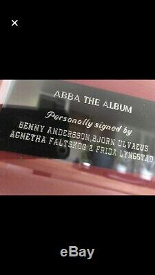 Abba The album Signed by all four Abba members! (Proof! / papers)
