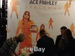 Ace Frehley Spaceman Signed Album Silver Lp Record Kiss With Proof Nyc Sam Ash