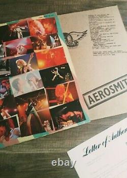 Aerosmith Live Bootleg Album Autographed Steven Tyler X5 Psa/dna Loa