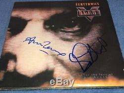 Annie Lennox & Dave Stewart Signed Autographed Eurythmics 1984 Record Album LP