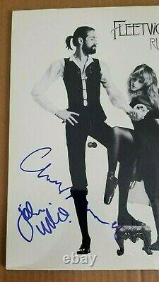 Autograph Fleetwood Mac Rumors Lp Record Album Signed By 3 Psa/dna Loa