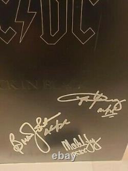 Autographed ACDC Back In Black Album. All 5. MINT. JSA