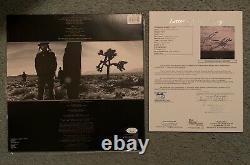 BONO U2 SIGNED THE JOSHUA TREE ALBUM With JSA LETTER LOA