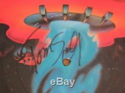 BOSTON Guitarist TOM SCHOLZ signed BOSTON 1976 Record / Album Picture Disc COA