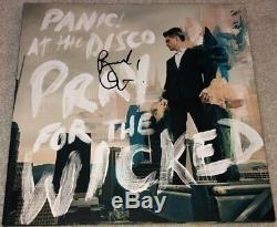 BRENDON URIE SIGNED PANIC! AT THE DISCO PRAY FOR THE WICKED ALBUM withEXACT PROOF