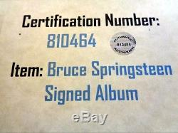 BRUCE SPRINGSTEEN Autographed Signed Album with COA & Picture NO RESERVE