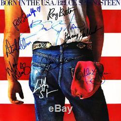 BRUCE SPRINGSTEEN SIGNED ALBUM FULL BAND SIGNED BACK N EARLY 90S SLIGHT FADING