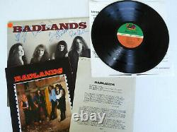 Badlands Authentic Group Signed Record Album Autographed, Ray Gillen, JSA LOA