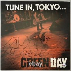 Billie Joe Armstrong Green Day x3 Signed Record Album PSA/DNA Autographed Tokyo