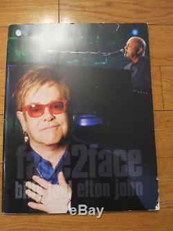 Billy Joel Elton John signed program coa + Proof! Album autographed Piano Man