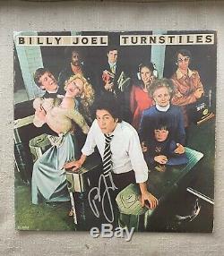 Billy Joel auto signed TURNSTILES record album LP cover JSA cert