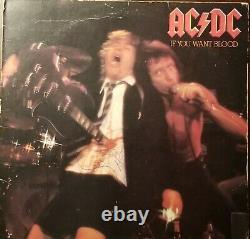 Bon Scott Signed AC/DC LP Record Album withCOA