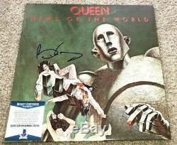 Brian May Signed News Of World Queen Album Bohemian Rhapsody Freddie Mercury Bas