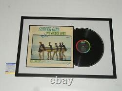 Brian Wilson Signed Framed Surfer Girl Album The Beach Boys Psa Coa