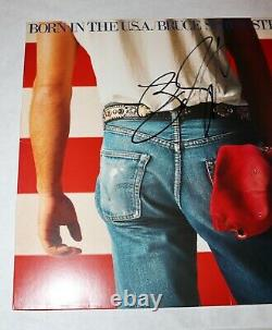 Bruce Springsteen Autograph Signed Born In The USA Lp Album Record Psa Jsa