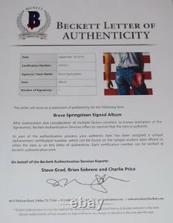 Bruce Springsteen Signed Autograph BORN IN THE USA Vinyl Record Album BAS COA