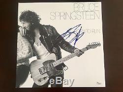 Bruce Springsteen Signed Born To Run Record Album JSA LOA
