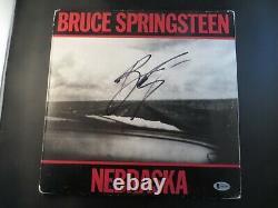 Bruce Springsteen Signed NEBRASKA Record Album BAS Beckett COA LOA Autograph