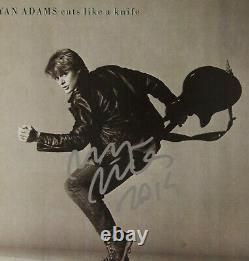 Bryan Adams JSA Signed Autograph Album LP Record Cuts Like A Knife