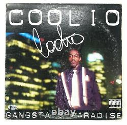 COOLIO Signed Gangsta's Paradise RECORD Album LP Vinyl Hip Hop RAP BECKETT COA