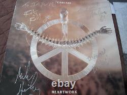 Carcass Heartwork EU Original Vinyl LP 1993 Signed Copy