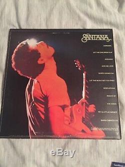 Carlos Santana Music Legend Signed Autographed Festival Album Vinyl Record COA