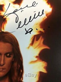 Celine Dion Signed Autographed Courage Album Record Vinyl Rare Red Vinyl Proof N