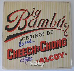 Cheech & Chong signed autographed Big Bambu Vinyl Record, Album, COA, Exact Proof