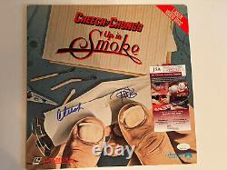 Cheech and Chong signed Up in smoke Album Record Vinyl Laser Disc COA