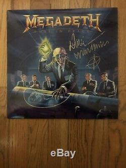 DAVE MUSTAINE SIGNED MEGADETH Rust In Peace VINYL RECORD ALBUM BECKETT BAS COA