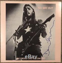 DAVID GILMOUR Pink Floyd RARE! Signed / Autographed BOOTLEG Album REAL COA