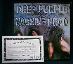 DEEP PURPLEAutographed MACHINE HEAD Album By All 5 withCOARitchie Blackmore