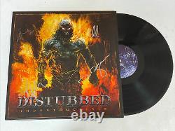 DISTURBED BAND AUTOGRAPHED SIGNED INDESTRUCTIBLE VINYL LP ALBUM JSA COA ii02158