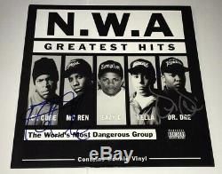 DR. DRE & Ice Cube Signed NWA Record Album LP RARE RAPPER Autograph JSA LOA COA