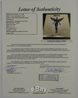 Dave Grohl Krist Nirvana In Utero JSA 12 Album photo Signed Autograph