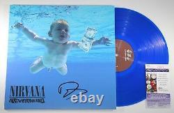 Dave Grohl Signed Nirvana Nevermind Lp Blue Vinyl Record Album Org 032 +jsa Coa