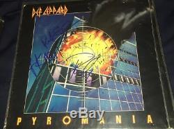 Def Leppard Signed Autographed Pyromania Record Album x 3 Rick Allen Savage Phil