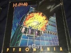 Def Leppard Signed Autographed Pyromania Record Album x 3 Rick Allen Savage Phil