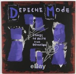 Depeche Mode Signed Autograph Songs Of Faith Record Album Beckett COA Vinyl