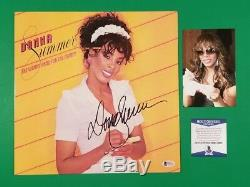 Donna Summer Signed She Works Hard For The Money Lp Album Photo Proof Bas Coa